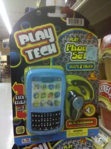 Kids plastic play cellphone set